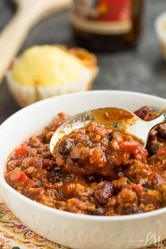 First Place Chili, in a Dutch oven or slow cooker, this chili is bold, spicy and a winner at my house!