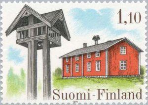 Issued in 1979,Suomi - Mäki-Rasinperä House & meal bell, Kuortane