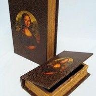"""Decoratiuni vintage - set cutii carti """"Mona Lisa"""""""
