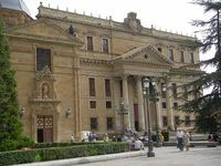 ANAYA PALACE    The Palacio de Anaya is a neoclassical palace with 4 columas Ionic triangular pediment and a grand staircase situated opposite the New Cathedral . is also known as College of St. Bartholomew . (Spain)