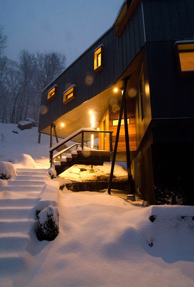 Entrance during a Snow Storm - photo by Taylor Deupree