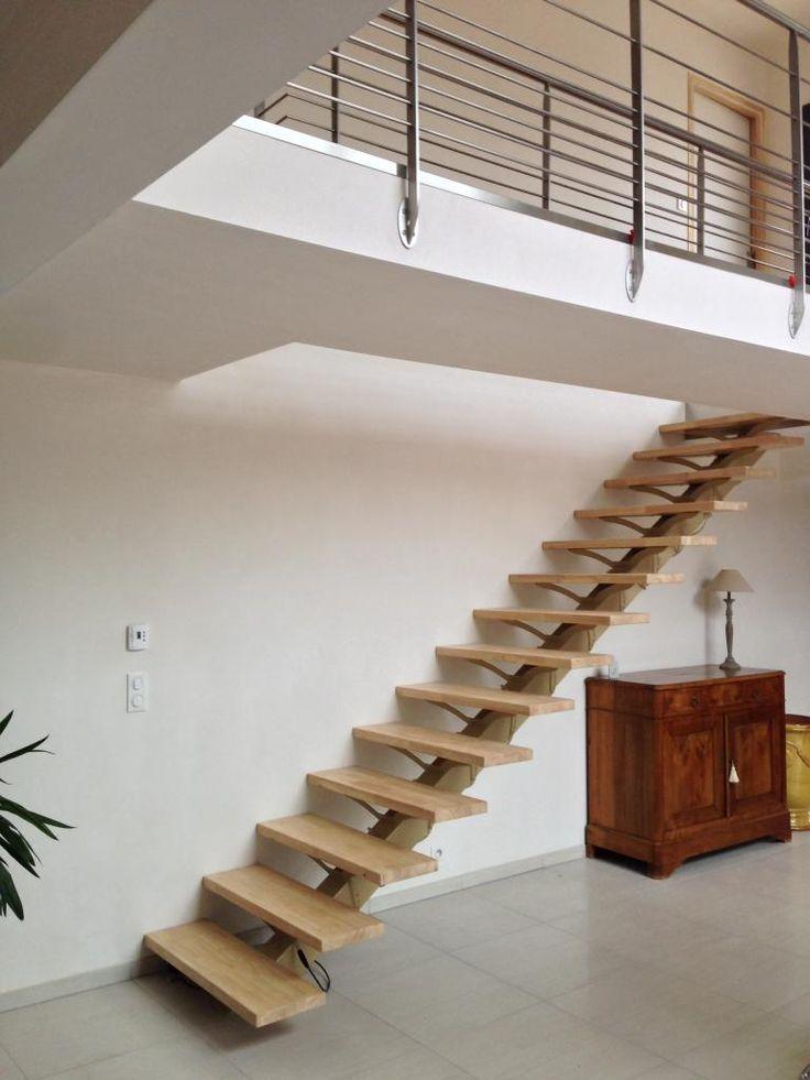 77 best escaliers en bois images on Pinterest Wood stairs - avantage inconvenient maison ossature metallique