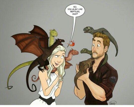 Danerys Targaryen meets Owen Grady