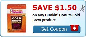 New Coupon!  Save $1.50 on any Dunkin' Donuts Cold Brew product - http://www.stacyssavings.com/new-coupon-save-1-50-on-any-dunkin-donuts-cold-brew-product/