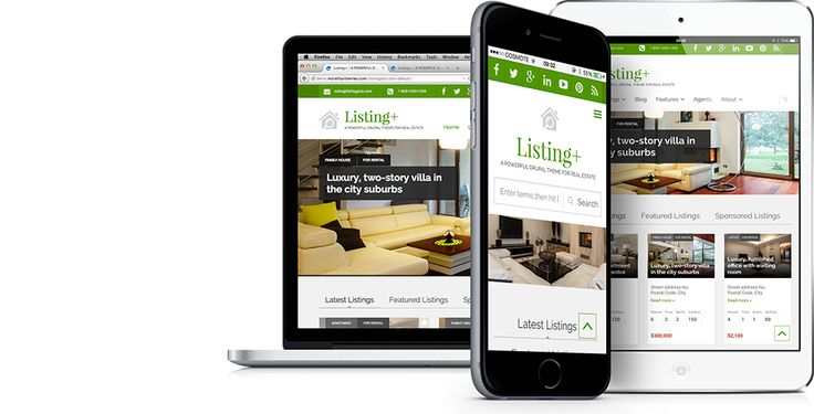 Listing+   A state-of-the-art listing theme for Drupal,  tailored to real estate.