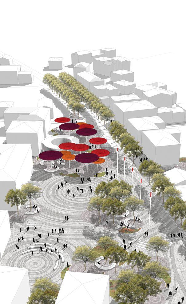 mir_architettura, Francesca Da Canal — Riqualificazione urbana centro storico-via Roma Medolla — Image 3 of 9 - Europaconcorsi