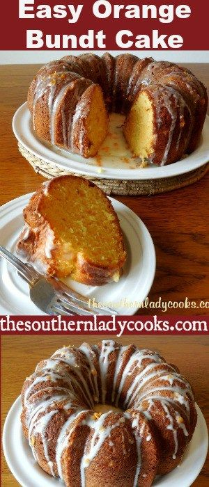 Easy Orange Bundt Cake is wonderful for breakfast with coffee or as a dessert anytime.