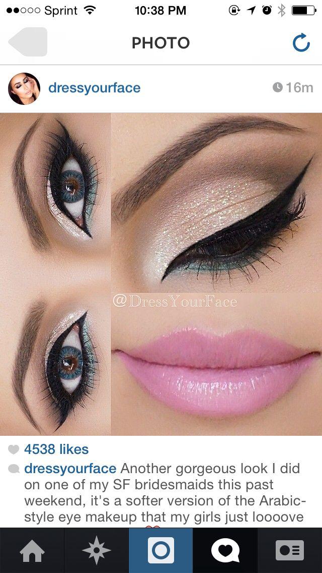Makeup eyes eyeliner lips lipstick pink