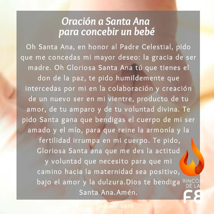 Oración a Santa Ana para concebir un bebé | Oración a Santa Ana