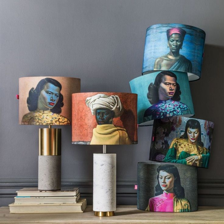 Our Tretchikoff lamp shades are still some of our best sellers1 View in store to get your! #lampshade #Tretchikoff #prints #lighting