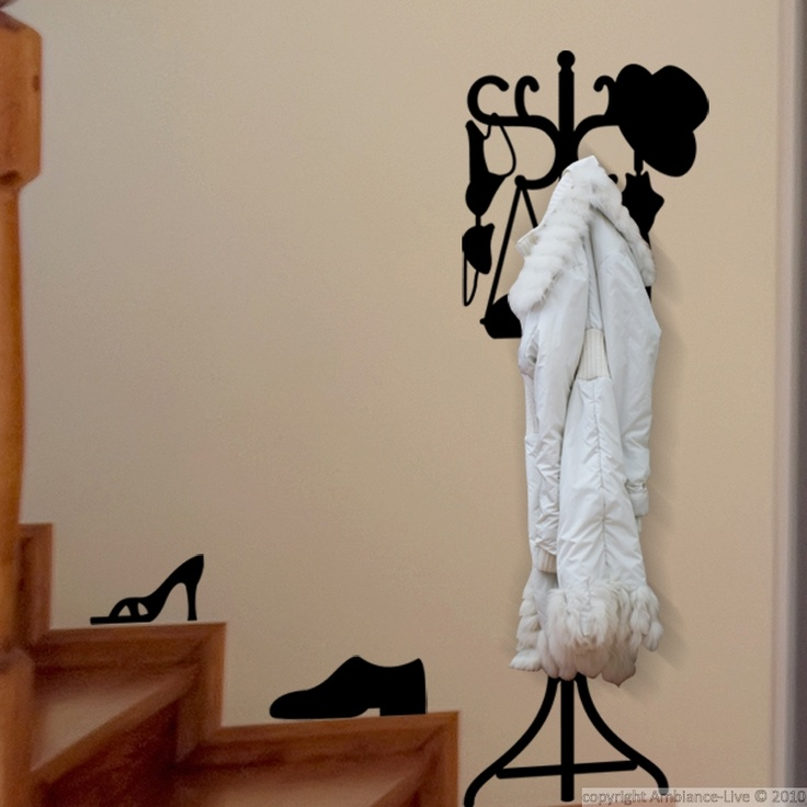 This Coat rack 1 #wall #decals can give you ideas for decorating the walls of your hall, bathroom or kitchen! #stickers