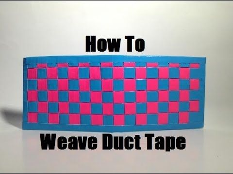 How to Make a Woven Duct Tape Wallet!!