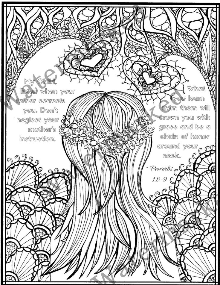 5 Proverb Bible Verse Adult Coloring Pages with Study Prompts
