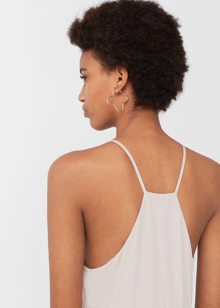 Robe longue halter | MANGO