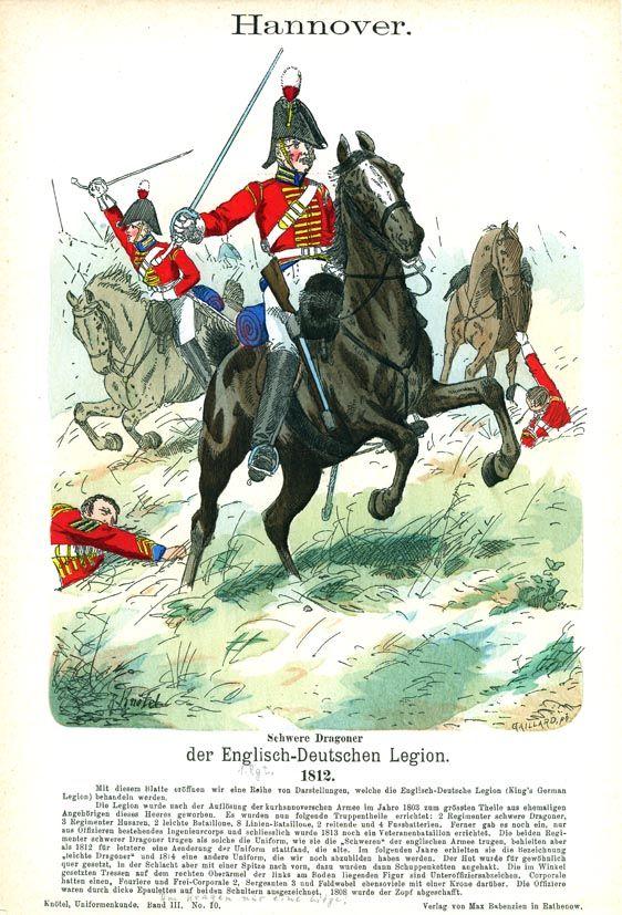 Heavy Dragoon, King's German Legion, 1812.