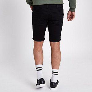 27b8c0634 Black slim fit Dylan denim shorts | Holiday Clobber | Chino shorts ...