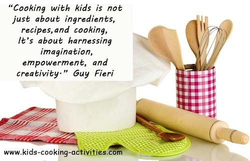 An introduction to the kids cooking lessons assistant chef program for 3-6 year olds from Kids Cooking Activities.