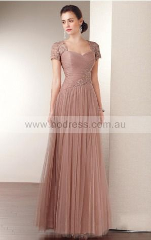 Zipper Floor-length Natural A-line Tulle Formal Dresses aiga307033