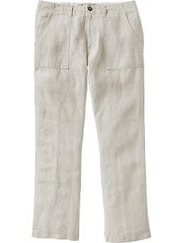 Mens Linen Pants - these are a decent option for all the guys, come in Matt's size, and seem to be on sale!