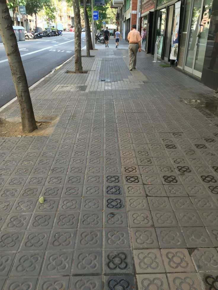 This was taken on my way home. The streets and sidewalks of Barcelona are filled with this type of tile, that seem to have a clover-like or flower pattern. This design seems to incorporate nature in something that is very man made and industrial.