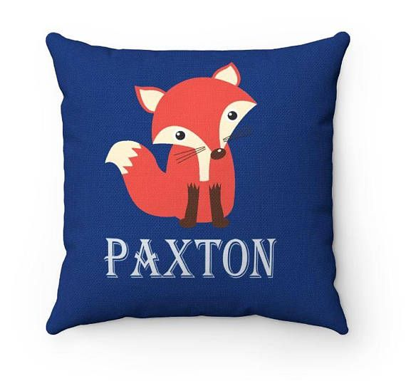 Orange Navy Blue Fox Baby Room Decorations Ideas