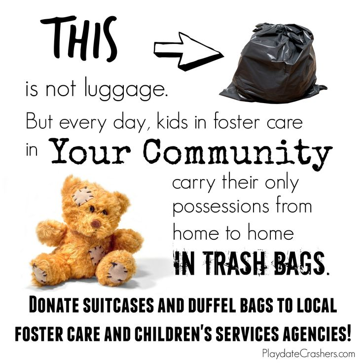 No More Trash Bags in Foster Care!