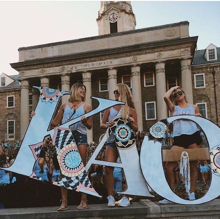 Kappa Alpha Theta at Pennsylvania State University #KappaAlphaTheta #Theta #BidDay #letters #sorority #PennState