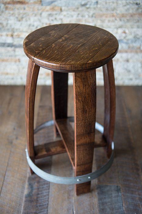 A Barrel Top Stool. A classic Alpine Wine Design piece!
