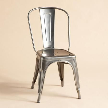 COULD BE CUTE WITH COLORFUL BISTRO TABLE. TOLIX 1934 SIDE CHAIR