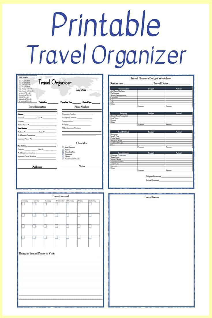 Free Printable Travel Planner Travel Planner Template Travel Itinerary Template Trip Planner Printable