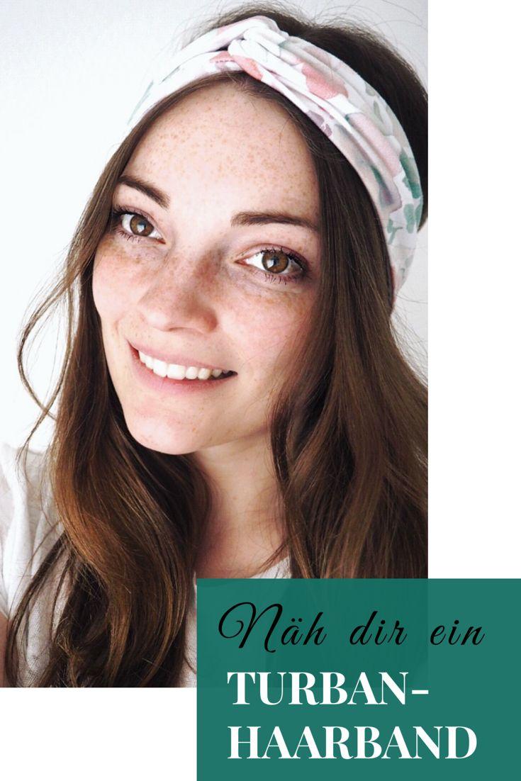 So nähst du aus deinen Stoffresten ein hübsches Turban-Haarband. Für Nähanfänger geeignet!