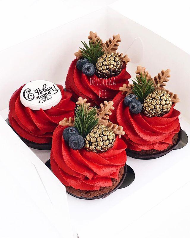 Dorogie Moi Lyudi Ya Pozdravlyayu Vas S Nastupayushim Novym Godom Pust Vse Chto Vy Zagadaete Etoj Nochyu Obyazateln Cupcake Cakes Cake For Boyfriend Winter Cupcakes