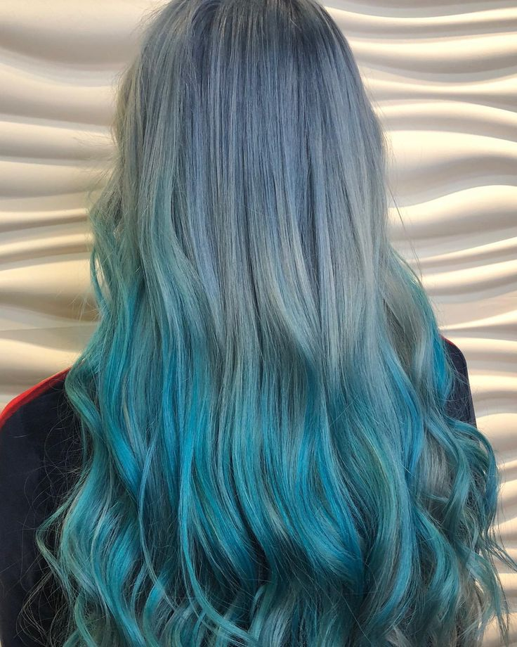 vibrantsalonspa Mermaid Hair 🧜♀️ Transformation done by