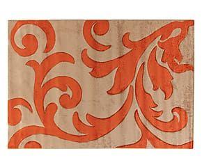 Tappeto effetto floreale Palace arancione/beige - 80x150 cm