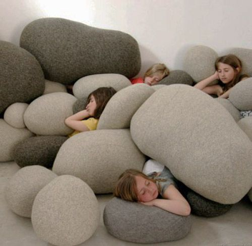 Contemporary Chairs and Lamps Made of Felt and Knitted Fabric, Unique Furniture and Lighting Ideas