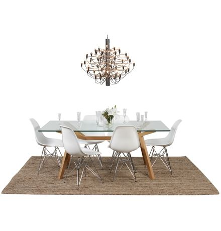 ORIGINAL Sean Dix Forte Dining Table Glass main image