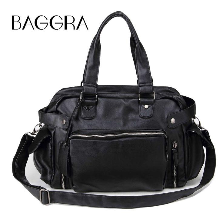 Only US$42.57, black Men Messenger Bag Shoulder Bag PU Large Capacity Crossbody Bag - Tomtop.com