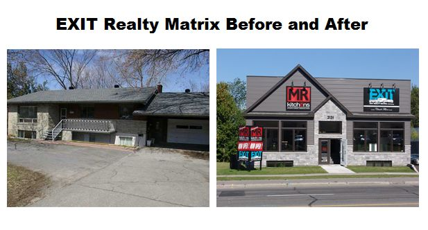 Before and After, the #exitottawa office ! // It's only fitting that our brokerage used to be a house don't you think?