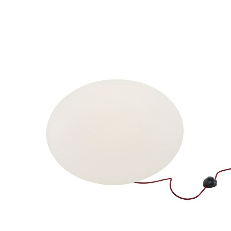 The Globe Floor light. Two versions of this rotomoulded light extsist. Indoor with a red cable. Outdoor with a black cable.