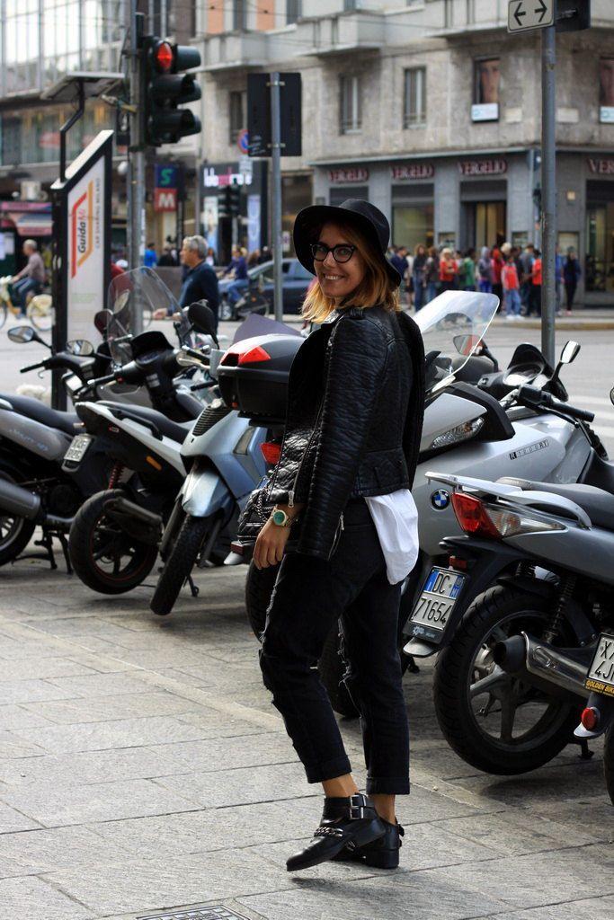 Streets of Milan during Milan Fashion Week SS16 streetstyle