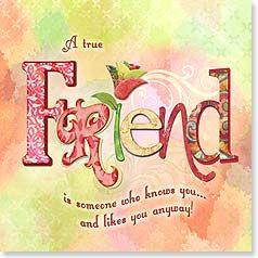 Friendship Card - A True Friend   Connie Haley   23310   Leanin' Tree