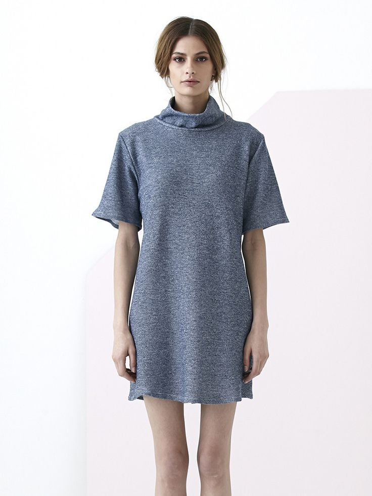KUWAII Tone Roll Neck Dress from Lo
