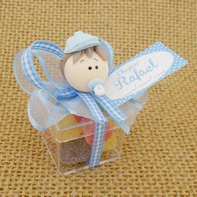 Lembrancinha Maternidade e Chá de Bebê Caixa com Menino e Balas $4.90