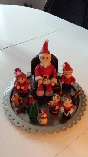 Christmas Family in Clay