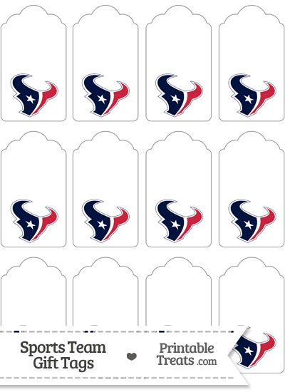 Houston Texans Gift Tags from PrintableTreats.com