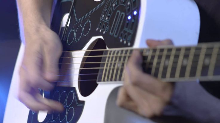 "Wireless midi player for acoustic guitar. ""the perfect bridge between electronic and acoustic music"""