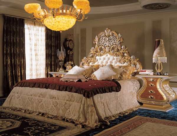 Italian Furniture - Italian Bedroom Furniture Dresser Nightstand King Size Bed