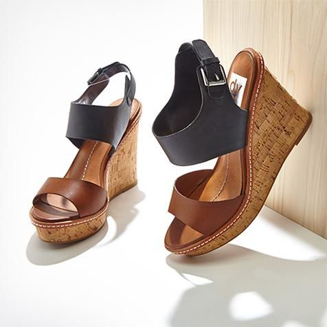 Summer soles: two toned wedges