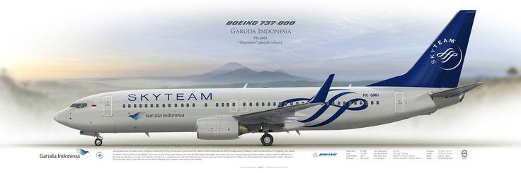 Boeing 737-800 Garuda Indonesia | www.aviaposter.com | #airliners #aviation #jetliner #airplane #pilot #aviationlovers #avgeek #jet #sideplane #airport