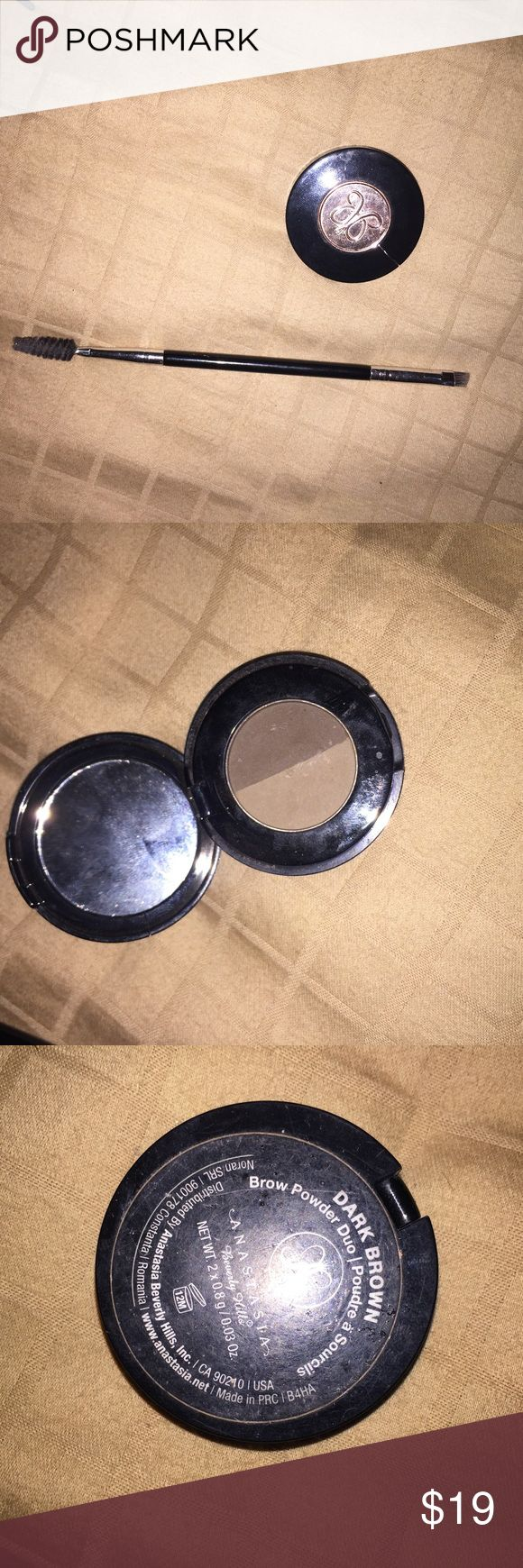 Anastasia brow powder duo with double ended brush Used few times. Bundle with other items in my closet to get the best deal Makeup Eyebrow Filler